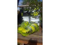K2 spyne 110 green ski boots