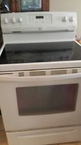 White Kenmore Glasstop Stove
