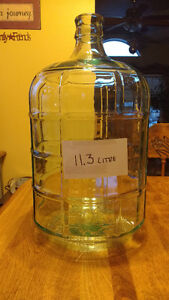 Beer Wine 2 glass carboys (11.3 L), $20 each, made in Italy
