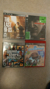 4 PS3 games (Grand theft auto 5, the last of us, etc)