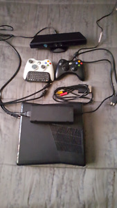 Xbox 360s 360 gb w/ kinect and 2 controllers