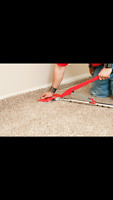 Carpet installation and repair and re stretch