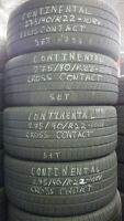 275/40/R22 Continental Cross Contact - Set - Installed $750