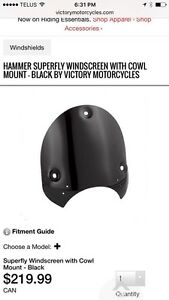 Victory Superfly Windscreen Cowl Mount - Black