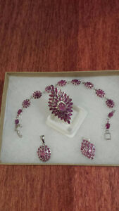 Lady's 100% NATURAL African Ruby Jewellery Set (obo sale)