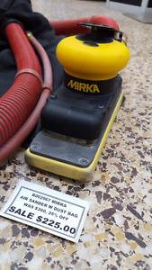 MIRKA AIR SANDER WITH DUSTBAG ON SALE FOR $225 EACH