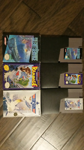 NES games in boxes. Rampage, Silent Service, Top Gun