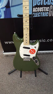 Fender Mustang Olive Green Electric Guitar (NEW)
