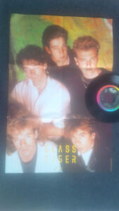 Five Glass Tiger 45 Vinyl Records - one with sleeve poster Cambridge Kitchener Area image 2