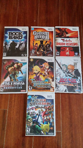 Various Nintendo Wii Games ($5, $10, $15, $20 each, $50 all)