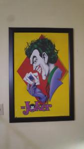 Joker Poster framed - printed in 1989 -RARE