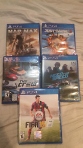 Ps4 games 15 each!