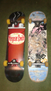 2 complete pro skateboards, new blind deck