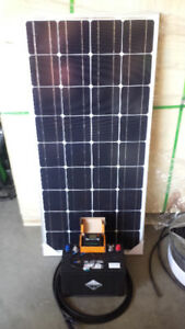 100W SOLAR AND DEEP CYCLE BATTERY COMPLETE NEW