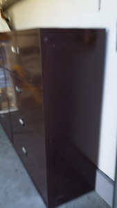 2 Full Size Filing Cabinets in Dark Chocolate. - $ 150 each