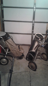 2 Golf bags and carts best offer