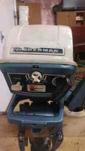 6 horse power evinrude with 12 ft aluminium in good shape boat