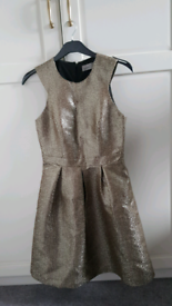 Gold party dress size 8 Vero Moda Itally ,Tk Maxx