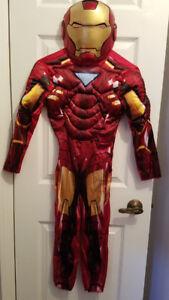 Iron Man, Red Power Ranger, Lego Knight boys costumes