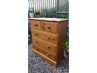 Solid Pine 5 Drawer Chest