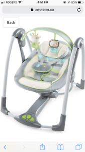 Ingenuity baby swing (vesper) - brand new condition