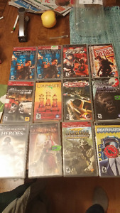 a bunch of psp games