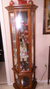 Lighted Curio cabinet for sale.