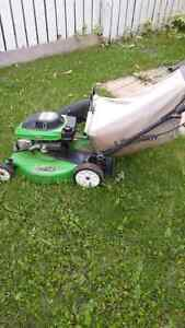 Lawn mower with trimmer