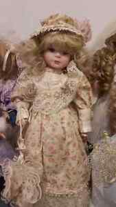 Porcelain doll Abegail with stand Windsor Region Ontario image 1