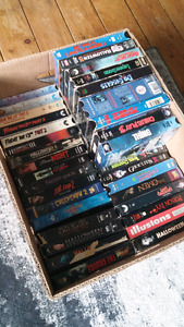 VHS HORROR LOT .. 40+movies .. Must be sold together