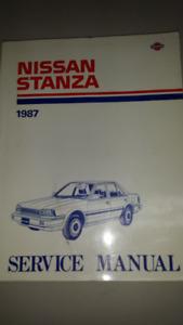 1987 Nissan Stanza Manual