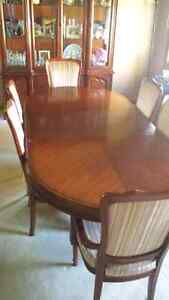Solid Wood Dining Table, Chairs and Hutch Windsor Region Ontario image 2