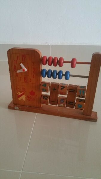 My little abacus & clock