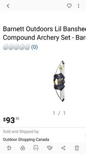Lil' Banshee Junior Archery Set / Arc junior NEUVE