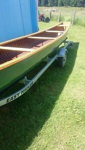 Canoe and trailer for sale