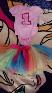 Ruffle Bums 1 Year Onsie and Tutu.