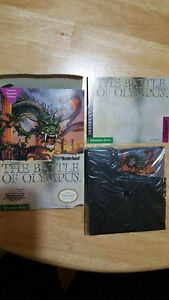 The Battle Of Olympus. regular nintendo. in box with manual