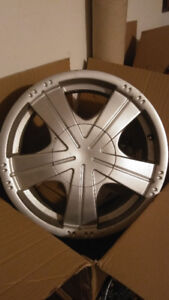 "Four used wheels 17"" x 7.5"" wide 4x100 bolt pattern"