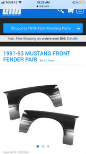 Lx front fenders mustang