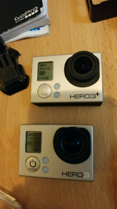 Two GoPros and accessories