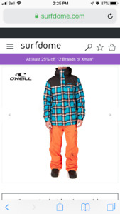 O'Neill snowboarding coat and pants
