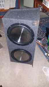 2 12 inch clarion subs