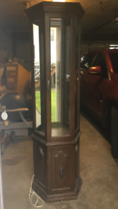 Curio Display Cabinet with light and mirror