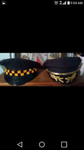 Vintage chicago police and fire jackets/hats