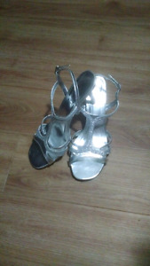 Size 10 Silver Dress Shoes
