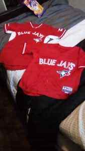 Two Red Blue Jay's Jersey's