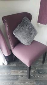 Dark pink statement dining chair