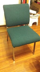 Hunter Green Padded Chairs