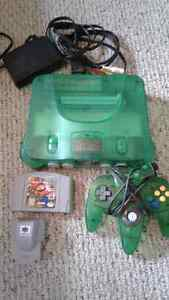 Jungle green N64 game console