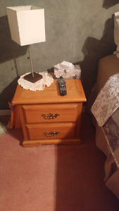 Set of pine night stands